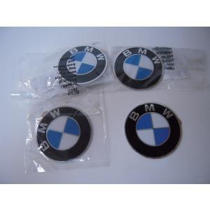 BMW 純正 ホイールキャップバッジ エンブレム 64.5mm 4枚セット 36136767550 E46 E60 E90 E92 等|baypar