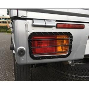 テールランプガード 黒粉体塗装 左右セット S201P/S211Pハイゼットトラック標準/ハイゼットジャンボ共通 ダイハツ bayroad-shop