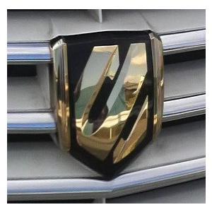 エンブレム ゴールドメッキ  トヨタ アルファード10系 フロントグリル用エンブレム|bayroad-shop