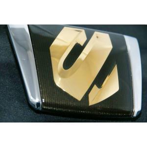 エンブレム 送料無料 ゴールド&クロームメッキ  トヨタ 20系アルファード 前期  コンビカラーフロントエンブレム  |bayroad-shop