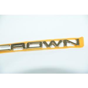 エンブレム 送料無料 最高級ゴールドメッキ クラウンGWS224/ARS220/AZSH2#  リアCROWNエンブレム|bayroad-shop