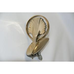 エンブレム 送料無料 ゴールドメッキ ニッサン シーマ Y33  ボンネットマスコット|bayroad-shop