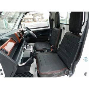 レザー調シートカバー フロントセット【ハイゼットジャンボS201P/S211P ダイハツ】J−NEXT|bayroad-shop