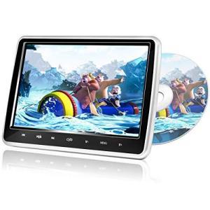 URVOLAX ヘッドレストモニター10.1インチ大画面 HDMI対応 スロットイン式 高画質車載用DVDプレーヤー レジューム機能 CPRM対応 マ|bayspring