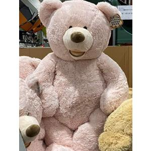 HUGFAN クマのぬいぐるみ ピンクベージュ 約134cm コストコ|bayspring