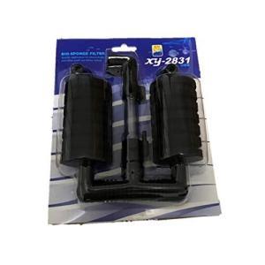 [ラ・モーダ]XY-2831 ダブル スポンジフィルター 選べるセット エアポンプ 水槽 水質改善 バクテリア 観賞魚(1個)|bayspring