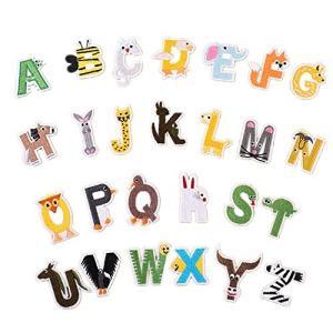 アルファベットA-Z 刺繍ワッペン アイロン接着 26枚セット アイロン ワッペン 刺繍 男の子 女の子 かわいい かっこいい 入園 入学 マーク 幼|bayspring