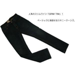 ヌーディージーンズ Nudie Jeans GRIM TIM USED BROWN WEFT グリムティム スリムストレートレッグ ジーンズ デニム ボトム パンツ レングス34|bayswater|02