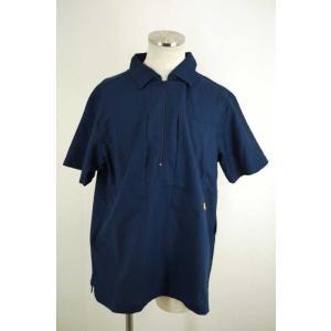 NATAL DESIGN (ネイタルデザイン) ハーフジップワイドシャツ L ネイビー メンズ【バズストア 古着】【中古】|bazzstore