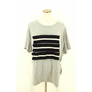 Tu es mon TRESOR (トゥ エ モン トレゾア) Tシャツ・カットソー レディース サイズ表記無 リボンデザインレイヤード調Tシャツ 中|bazzstore