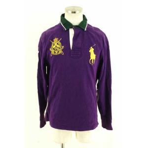 Polo by RALPH LAUREN(ポロバイラルフローレン) ポロシャツ メンズ サイズM ビッグポニー刺繍長袖ラガーシャツ 中古 ブランド古着 bazzstore