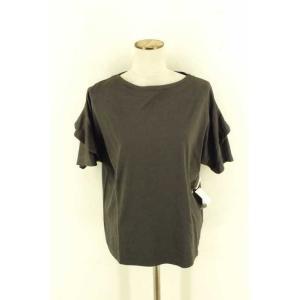 SACRA(サクラ) クルーネックTシャツ レディース サイズ38 ぺタルスリーブカットソー 中古 ブランド古着バズストア 121017|bazzstore