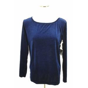 IS.Chisato Tsumori Design (アイエス ツモリチサトデザイン) UネックTシャツ レディース サイズM 80s ベロア 中古|bazzstore
