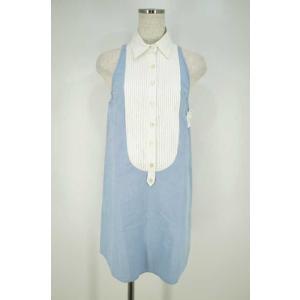 ダブルスタンダードクロージング DOUBLE STANDARD CLOTHING シャツ レディース サイズF ノースリーブシャツワンピース 中古 ブ|bazzstore