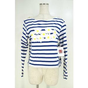 MUVEIL(ミュベール) Tシャツ・カットソー レディース サイズ38 16SS マーガレットプリントボーダートップス 中古 ブランド古着バズストア|bazzstore