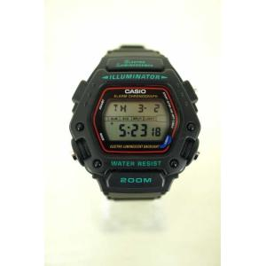 CASIO(カシオ) DW-290 スポーツウォッチ 腕時計 表記無 ブラック × ブルー メンズ【バズストア 古着】【中古】|bazzstore