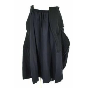COMME des GARCONS(コムデギャルソン) スカート レディース サイズXS 17AW 再構築リメイクドッキングスカート 中古 ブランド古|bazzstore