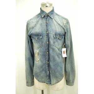 ZARA MAN(ザラマン) シャンブレーシャツ メンズ サイズUSA S ダメージ加工 中古 ブランド古着バズストア 081017 bazzstore