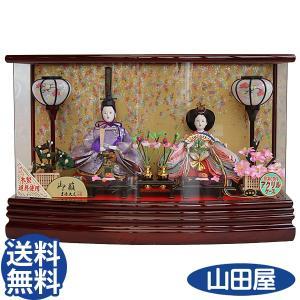雛人形 おしゃれ ケース飾り コンパクト 吉徳大光 322-109 ひな人形 親王飾り 二人 送料無料|bb-yamadaya