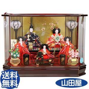 雛人形 ひな人形 吉徳大光 322-951 おしゃれ ケース飾り コンパクト 五人 送料無料|bb-yamadaya
