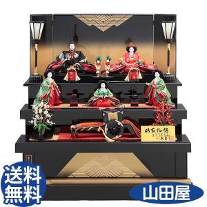 雛人形 おしゃれ 久月 三段 ひな人形 ワダエミ監修 竹取物語 五人飾り 71HC-03 D-4 送料無料|bb-yamadaya