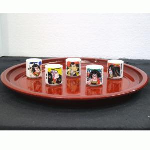ぐいのみ ぐい呑み 人形の久月 歌舞伎 陶器 日本 お土産 みやげ ジャパン ジャパニーズ|bb-yamadaya