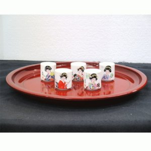 ぐいのみ ぐい呑み 人形の久月 雅美人 陶器 日本 お土産 みやげ ジャパン ジャパニーズ|bb-yamadaya