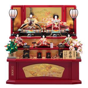 雛人形 久月 三段 ひな人形 雛の詩 送料無料※ 出飾り 五人飾り 5811 300142 S3016 木製 bb-yamadaya