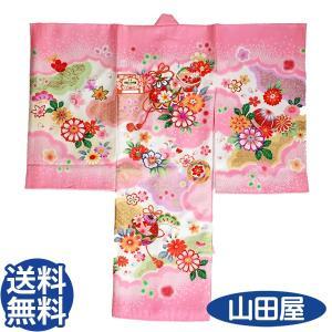 116 ピンク ふくれ織 初宮参り お祝着 初着 産着 一ツ身 のしめ 熨斗目 送料無料|bb-yamadaya