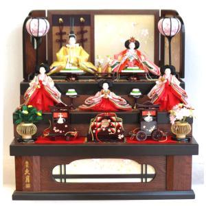 雛人形 コンパクト 久月 収納飾り ひな人形 三段 五人飾り 雛の詩 3277 送料無料|bb-yamadaya