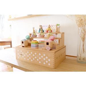 雛人形 ひな人形 雛 おしゃれ かわいい 木目込み おひなさま お雛様 コンパクト 五人飾り Puca プーカの雛人形 bb-yamadaya