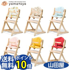 大和屋 すくすくチェア プラス テーブル ガード付 ベビーから大人まで クッション付2点セット sukusuku Plus 送料無料 bb-yamadaya