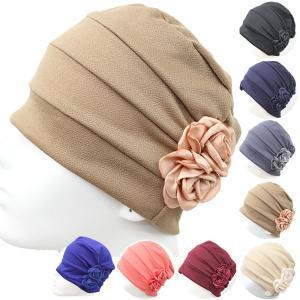 花飾り レディースキャップ 医療用帽子 帽子 ルームキャップ ヘアキャップ 医療帽 脱毛、薄毛、抗がん剤治療 CAP 1004|bbdirect