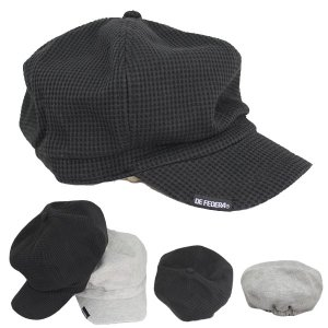 大きいサイズ キャスケット ワッフル生地 帽子 コットン キャスケット帽 無地 キャップ ハンチング 綿 メンズ レディース CAP 1308 bbdirect