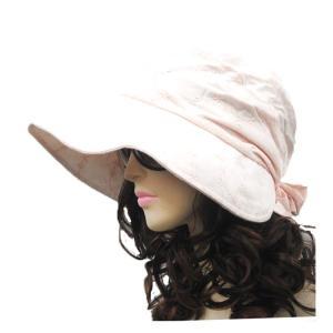 UVカット帽子 レディースハット つば広 折りたたみ 大きい bbdirect