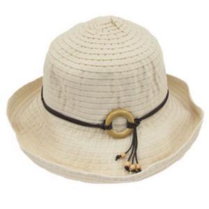 レディースハット レース 飾りボタン キャペリン パッチワーク 婦人帽 女性用 bbdirect