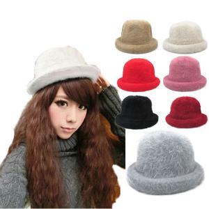 帽子 ファーハット ボーラーハット ふわふわ もこもこ フェイクファー 防寒 冬 高級感 毛皮 cap 3305 bbdirect