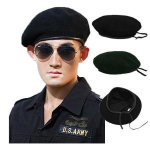 ミリタリー風 ベレー帽 フェルト帽子 ベレー ハット 大きいサイズ 無地 ミリタリーキャップ M L XL メンズ レディース BERET CAP 3405|bbdirect