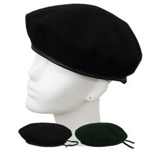 ミリタリー風 ベレー帽 ベレー フェルト帽子 ハット 大きいサイズ 無地 ミリタリーキャップ M L XL メンズ レディース BERET CAP 3405|bbdirect