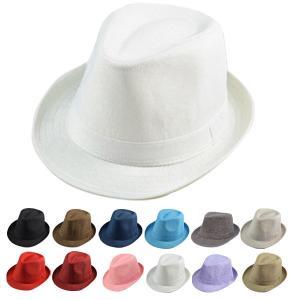 麻 中折れハット 帽子 ヘンプハット 無地 ハット キッズハット 中折れ帽子 ストローハット メンズ レディース 子ども 帽子 HAT 351|bbdirect
