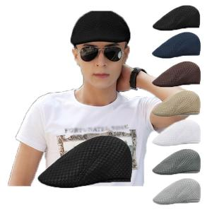 メッシュハンチング 帽子 無地 キャップ ハンチング帽 サマーキャップ キャスケット メンズ レディース 春 夏 HUNTING CAP 7108|bbdirect
