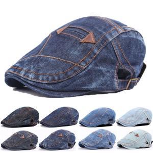 デニム ハンチング 帽子 コットン キャップ ステッチ 綿 ハンチング帽 キャスケット メンズ レディース HUNTING CAP 7110|bbdirect