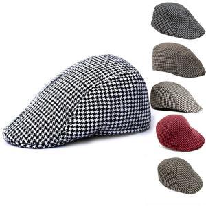 千鳥格子柄 ハンチング 帽子 厚手 ハンチング帽 織柄 キャップ ハンチングキャップ メンズ レディース帽子 HUNTING CAP 7127 bbdirect