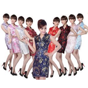 コスプレ 衣装 チャイナドレス ほうおう柄 ショート丈|bbdirect