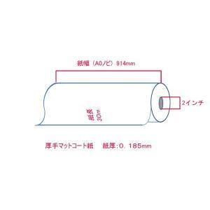 大判プリンター用紙 インクジェットロール紙 厚手マットコート紙 914mm×30M 2本 A0ロール紙 bbest 02