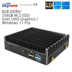 ミニパソコン パソコン デスクトップ 小型パソコン skynew K4 ファンレス 静音 ミニPC Intel Celeron 在宅 bbest