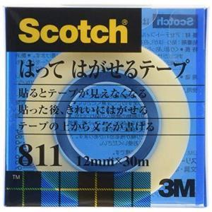 3M 貼ってはがせるテープ 12mmX30m 巻芯径25mm 811-1-12C (クリアケースイリ) (12MMX30M)|bbmarket