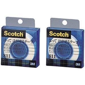 3M 貼ってはがせるテープ 18mmX30m 巻芯径25mm 811-1-18C (クリアケースイリ) (18MMX30M)|bbmarket