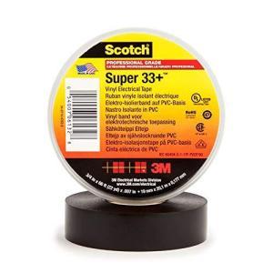 3M スコッチ スーパー33+ ハーネステープ 黒色 19mmX0.18mmX20m 電気絶縁|bbmarket