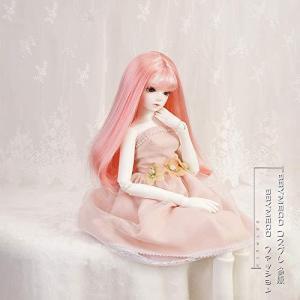 BBYMECO 1/3 1/4 1/6ドール用ウィッグ 人形用ウィッグ 髪 かつら 耐熱 高温ウィッグ? ピンク (1/4ドール)|bbmarket